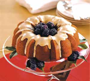 Blackberry Cake  with Maple Icing