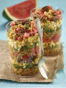 Summertime Ancient Grain Salad with Watermelon recipe