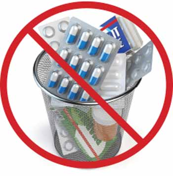 Health Living Don't flush medications