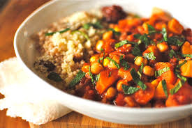 Carrot Chickpea Tagine with Cilantro Quinoa
