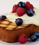 Grilled Pound Cake with Berries
